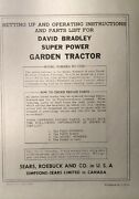 David Bradley Sears 917.57561 Garden Tractor And Plow Owners And Parts 2 Manuals