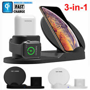 3in1 Qi Wireless Fast Charger Dock Stand For Watch For Iphone X Xs Xs Max 10 Pcs