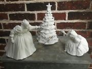 Department 56 Winter Silhouette Putting Up The Tree White Porcelain