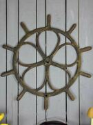 Large Antique French Steering Wheel From A Boat 40½