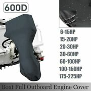 For 6-225hp Motor Blue Boat Full Outboard Engine Cover Waterproof 600d Anti-wind