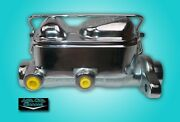 Dual Reservoir Chrome Master Cylinder 64-69 Ford Mustang Disc/drum Ford Correct