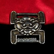 Tibe Buddhism Pure Silver Buddhist And Supply Lion Sacred Books Bookmark Button