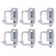 6pcs/set Of Truck Cap Topper Shell Mounting Clamps Heavy Duty Kit Camper Tl2002