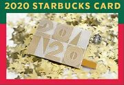 Bn Ltd Ed 2020 Starbucks Singapore New Year Christmas Gold Card Exclusive Gift