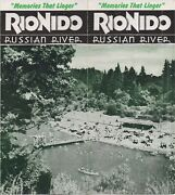 1940s Promotional Brochure For Rio Nido On The Russian River Ca