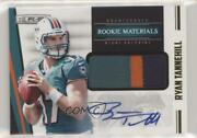 2012 Rookies And Stars Materials Prime Signatures /49 Ryan Tannehill Rookie Auto
