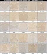 20 Pack Laser Cut 4 Clear Acrylic Blank Shapes Diy Crafts Jewelry Gifts