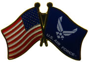 Wholesale Pack Of 50 Usa And Air Force Wings Combination Bike Hat Cap Lapel Pin