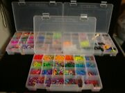 3 Storage Cases Colorful Rubber Band Bracelet Loom Refill Kit W/carrying Case