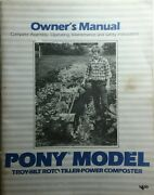 Troy-bilt Walk-behind Pony Roto Tiller Owners And Parts 2 Manual S Garden-way