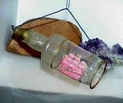 Rare Antique Glass Figural Ship In A Bottle Christmas Ornament Vintage Etched 1