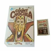 Count Chocula Cereal Box Mfr Coupon Rare Spooky Bedroom Door Sign 1988 Empty Htf