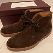 John Lobb Brown Suede Turf Chukka Ankle Boots Casual Shoes Size 8 New 990