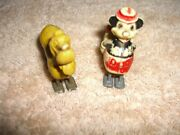 Mickey Mouse And Pluto Vintage Ramp Walkers