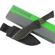 Schrade Recurve Fixed Blade Bowie Little Ricky Knife Schf28 Sheath Full Tang