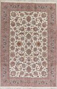 Ivory Floral Kashmar Oriental Area Rug Wool Hand-knotted 7x10 Home Decor Carpet