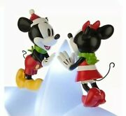 2015 Disney Mickey Mouse And Minnie Mouse Light Up Tree Topper New In Box