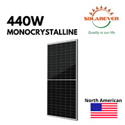 440w Silver 72-cell Mono Solar Panels North American Made 4.4kw - 10pc
