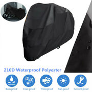 Motorcycle Scooter Cover Xl/2xl/3xl Waterproof Outdoor Sun Rain Dust Protect+bag