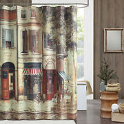Ds Bath Vintage And Tree Waterproof Polyester Printed Fabric Shower Curtain