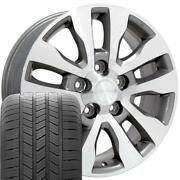 20 Wheel Tire Set Fit Toyota Tundra Style Silver Rims Machand039d 69533 Gy Tires