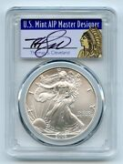 2003 1 American Silver Eagle Dollar Pcgs Ms70 Thomas Cleveland Native