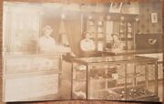 C1910 Men Tending To Cigar Shop Pipe Tobacco Store Rppc Real Photo Post Card