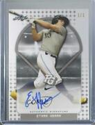 2018 Leaf Perfect Game National Showcase Silver Proof 1/1 Ethan Hearn Auto