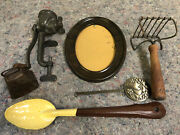 Lot Of Antique Kitchen Items-great For Decorating-rollman 12 Food Chopper