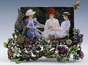 Jay Strongwater 4x6 Field Of Flowers Picture Frame Nib
