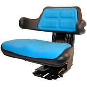 Blue Seat Fits Ford Fits New Holland Tractor With Adjustable Angle And Full Susp