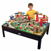 Kidkraft Airport Express Train Set And Table - 91 Accessories Included