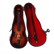 3 Inch Violin Miniature With Velvet Lined Case Free Shipping