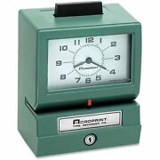 Acroprint Model 125 Analog Manual Print Time Clock With Month/date/0-12 Hours/m