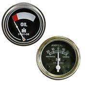 Amp And Oil Pressure Gauge Set For Farmall Fits Cub Tractor Models 1948-54