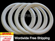 15 Radial Tires Whitewall Port-a-wall Tire Trim Set 4 Pieces .free Shipping