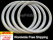 15 Motorcycle Wide White Walls Port-a-wall Sidewall Tire Insert Trim Set Of 4