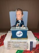 2012 Vin Scully Bobble-head With Dodgers Game Day Ticket