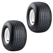 2 13x6.50x6 Ribbed Tires For Grasshopper Woods Ztr Mowers Rider Tractors