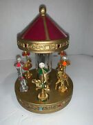 Spoontiques Carousel With Figurines Gold And Pewter Horses Circus And Dragon