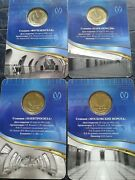 Russia Saint Petersburg. 4 Commemorative Transit Tokens. 50 Years To Stations.