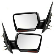 Pair Set Power Side View Mirrors Heated Signal 2007-2008 Ford F-150 Pickup Truck