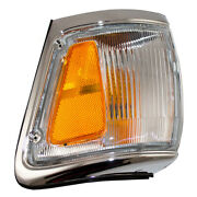 New Drivers Park Clearance Lamp Chrome Trim Assembly For 92-95 Toyota 4runner