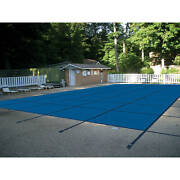 Water Warden Solid Safety Pool Cover For In Ground Pools, With Center Drain Pan