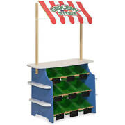 Melissa And Doug Wooden Grocery Store And Lemonade Stand - Reversible Awning 9 B