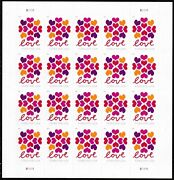 Hearts Blossom Genuine Forever Heart Wedding Stamps 5 Sheets 100 Stamps