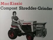 Mackissic Mighty Mac Shredder And Sprayer Bolens Tractor Implement Sales Brochure
