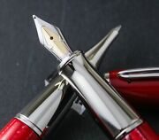 Leverage Stipula Red Prototype Fountain And Rollerball Pen Set