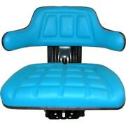Blue Waffle Style Tractor Suspension Seat Fits Ford/fits New Holland 2n 8n 9n Na